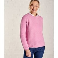 Womens Lambswool Moss Stitch Jumper S Pale Rose