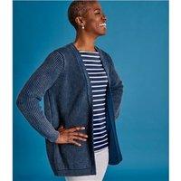 Womens Cotton Edge to Edge Cardigan XL Denim Blue