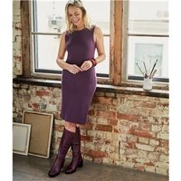 Womens Milano Sleeveless Dress M Aubergine