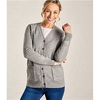 Womens Lambswool V Neck Cardigan XL Grey Marl