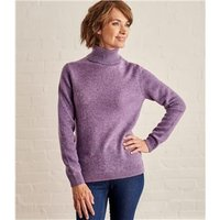 Womens Lambswool Polo Jumper XS Lavender Marl