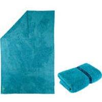 Nabaiji Zachte microvezelhanddoek XL blauw kopen