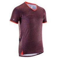 Rockrider MTB-shirt voor heren met korte mouwen ST 100 heren blauw/oranje kopen