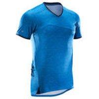Rockrider MTB-shirt met korte mouwen heren ST 100 blauw kopen