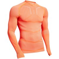 Funktionsshirt langarm Keepdry 500 atmungsaktiv Erwachsene orange