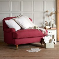 Bampton Love Seat Snuggler Chair - Linen