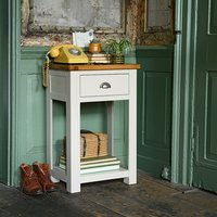 Lundy Stone Grey Telephone Table
