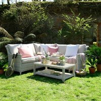 Hampton Rattan 3 Piece Corner Garden Lounge Set
