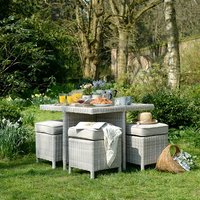 Hampton Rattan 4 Seater Cube Garden Dining Set