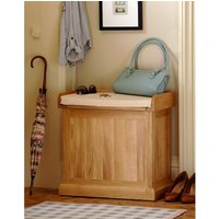 Appleby Oak Small Shoe Storage Trunk Bench