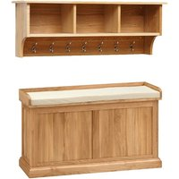 Appleby Oak Hallway Storage Set