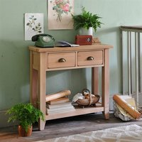 Natural Oak Console Table