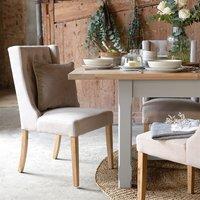 Foxglove Straight Back Buttoned Chair - Cream