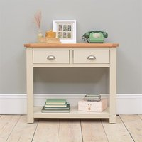 Lundy Stone Grey Console Table