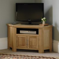 Newark Oak Corner TV and DVD Cabinet - up to 47