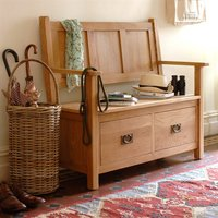 Lyon Oak Monks Storage Bench