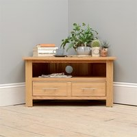 Newark Oak Corner TV Unit Up to 40