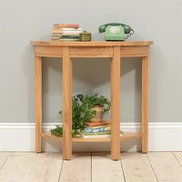 Montague Oak Curved Console Table