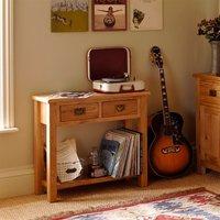 Lyon Petite Oak Console Table