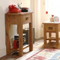 Lyon Petite Oak Telephone Table