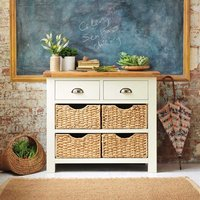 Oxford Painted Console Table with Baskets