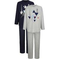 In uw garderobe mag deze set van 2 pyjama's natuurlijk niet ontbreken! van huidvriendelijk single jersey. de ...