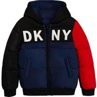 Reversible hooded puffer jacket DKNY KID BOY