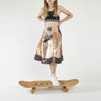 Flared skirt with mesh DKNY JUNIOR GIRL