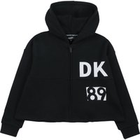 Hooded fleece cardigan DKNY JUNIOR GIRL