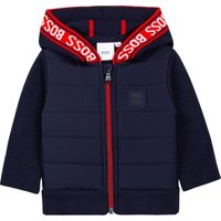 Dual-material hooded cardigan BOSS INFANT BOY