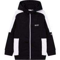Zipped hooded cardigan BOSS KID BOY
