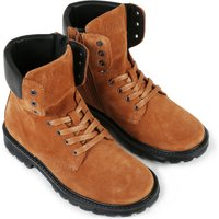 Leather lace-up boots BOSS KID BOY