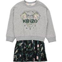 Dual-material dress and sweatshirt KENZO KIDS KID GIRL