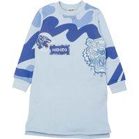 Cotton fleece sweatshirt dress KENZO KIDS KID GIRL