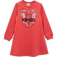 Flared cotton-fleece dress KENZO KIDS KID GIRL