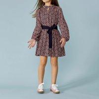 Long-sleeved print dress LANVIN KID GIRL