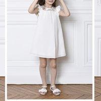 Cotton and silk formal dress CHARABIA KID GIRL