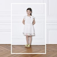 Embroidered cotton voile dress CHARABIA KID GIRL