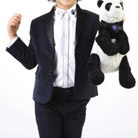 Wool suit jacket with bow tie THE MARC JACOBS KID BOY