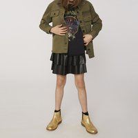 Faux leather frilled skirt ZADIG and VOLTAIRE KID GIRL