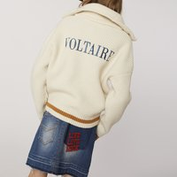 Washed-out denim mini skirt ZADIG and VOLTAIRE KID GIRL