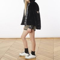 Hooded faux fur jacket ZADIG and VOLTAIRE KID GIRL