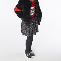 Faux fur jacket KARL LAGERFELD KIDS KID GIRL