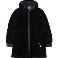 Waterproof hooded trench coat KARL LAGERFELD KIDS KID GIRL
