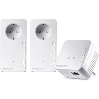devolo Magic 1 WiFi Multimedia Power Kit (1200Mbit, Powerline + WLAN ac, Mesh)