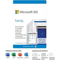 Microsoft 365 Family Download [inkl. Office Apps] DE
