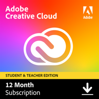 Adobe Creative Cloud Individual Student & Teacher Edition 1Jahr - Aktion*