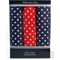 3 x boxed Spotty Hankie