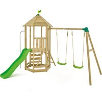 TP Castlewood Kennilworth Wooden Swing Set and Slide -FSCandreg