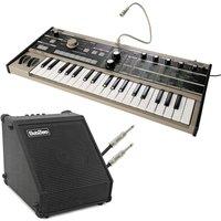 Korg microKORG Synthesizer and SubZero DR-30 Amp